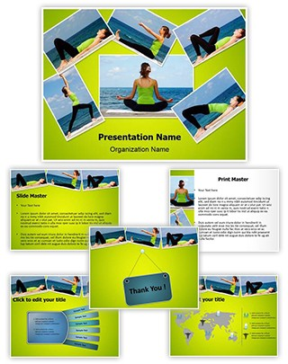 Yoga Exercises Collage Editable PowerPoint Template
