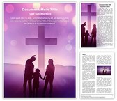 Christianity Christian Family Editable Word Template