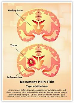 Brain Tumor Editable Word Template