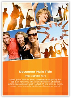 Collage Leisure Activities Editable Word Template