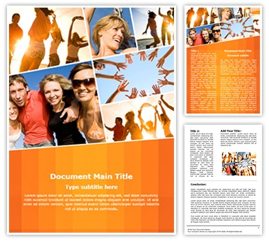 Collage Leisure Activities Editable Word Document Template