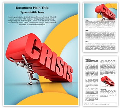 Manager Business Crisis Editable Word Document Template