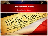 American Constitution Editable PowerPoint Template