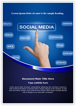 Buzz Marketing Social Sharing Editable Word Template