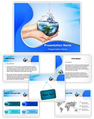 Save Water Editable PowerPoint Template