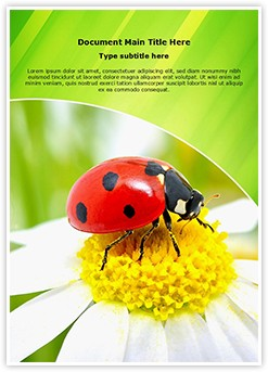 Ladybug Flower Editable Word Template
