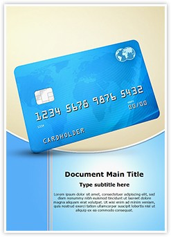 Credit Debit Card Editable Word Template