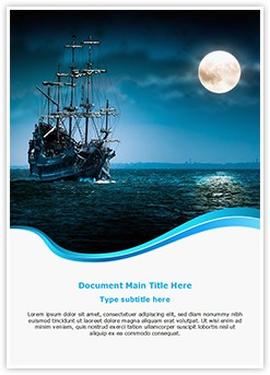 Pirate Ship Editable Word Template