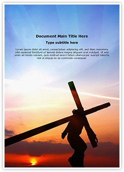 Jesus Christ Crucifixion Editable Word Template
