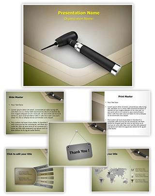 Otoscope Editable PowerPoint Template