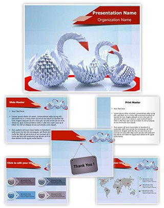 Paper Origami Editable PowerPoint Template