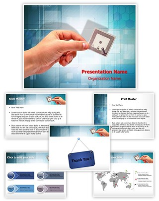 Radio Frequency Identification Tag Editable PowerPoint Template