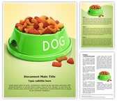 Pet Dog Food Editable Word Template