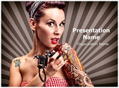 Tattoo Artist PowerPoint Templates