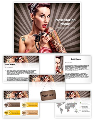Tattoo Artist Editable PowerPoint Template
