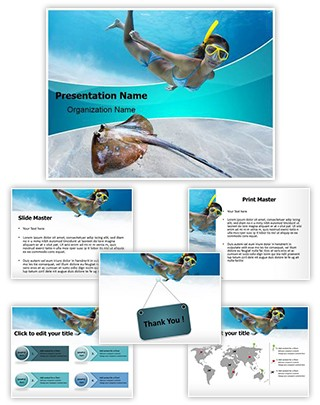 Underwater Diving Editable PowerPoint Template
