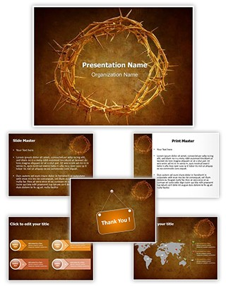 Crown of Thorns Editable PowerPoint Template