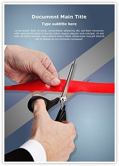 Ribbon Cutting Inauguration Editable Word Template
