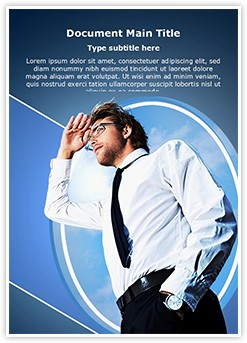 Successful Business Leader Editable Word Template