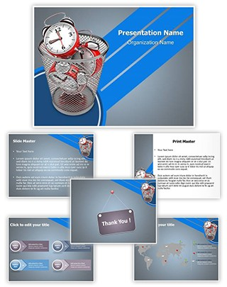 Time Waste Editable PowerPoint Template