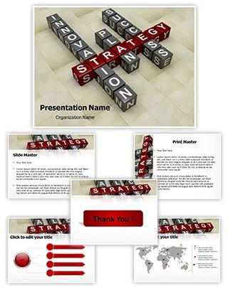 Business Crossword Editable 3D PPT Template