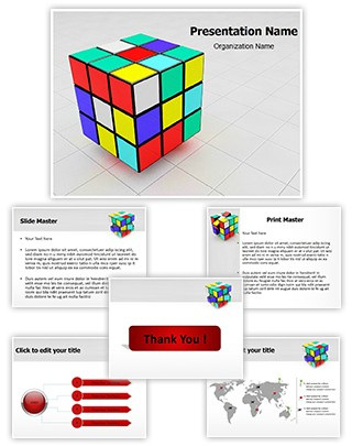 Rubiks Cube Editable 3D PPT Template