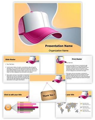 Baseball Cap Editable PowerPoint Template