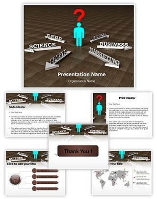 Choosing Career Editable 3D PPT Template