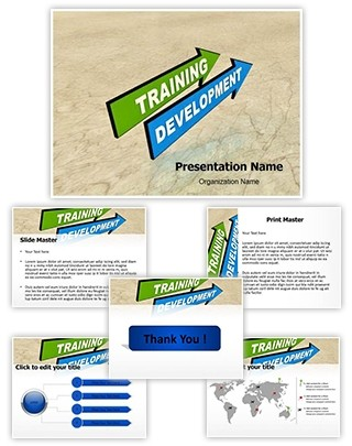 Training and Development Editable 3D PPT Template