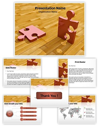 Rotating Puzzle Editable 3D PPT Template
