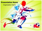 Sports Training Soccer Player Editable PowerPoint Template