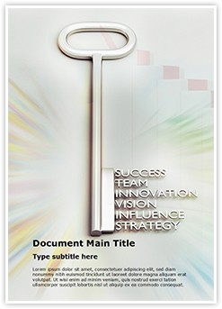 Key to success Editable Word Template