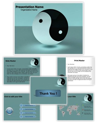 Yin Yang Editable 3D PPT Template