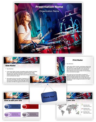 Playing Drums Editable PowerPoint Template