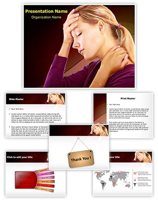 Head Neck Pain Editable PowerPoint Template