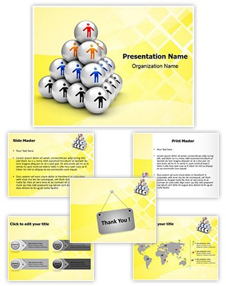 Hierarchy Pyramid Editable PowerPoint Template