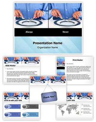 Table Manners Etiquette Editable PowerPoint Template
