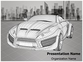 3D Modeling Wireframe Editable PowerPoint Template