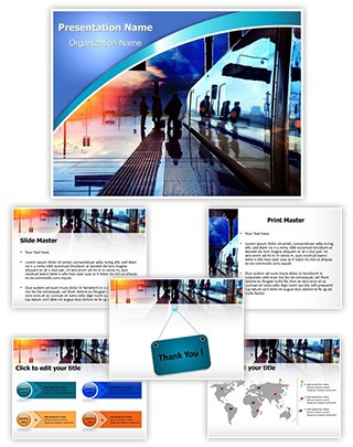 Train Station Editable PowerPoint Template