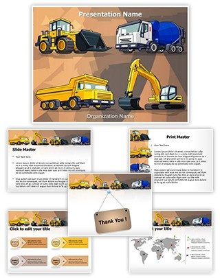 Industrial Construction Machine Editable PowerPoint Template
