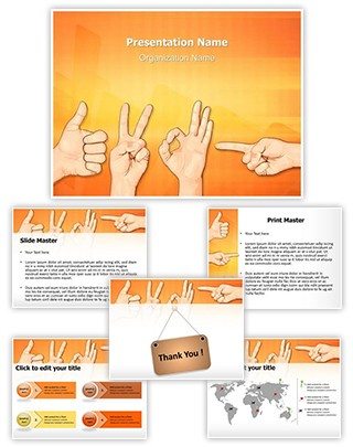 Multitouch Gestures Editable PowerPoint Template
