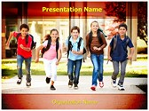 School Home Time Editable PowerPoint Template