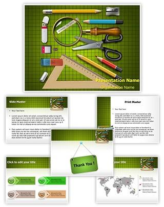 School Supplies Editable PowerPoint Template
