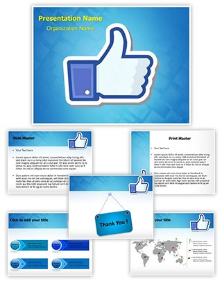 Social Media Like Symbol Editable PowerPoint Template
