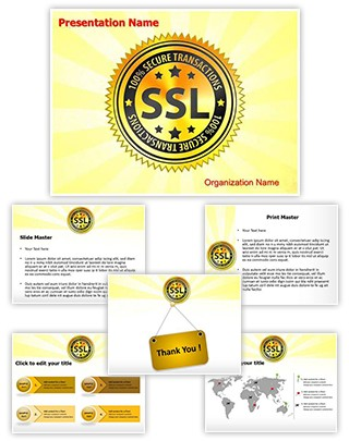 SSL Encryption Safety Editable PowerPoint Template