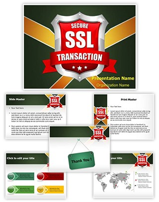 SSL Secure Transaction Editable PowerPoint Template