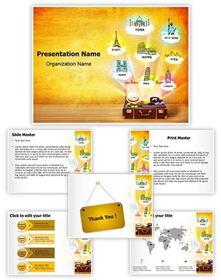 World Tourist Places Editable PowerPoint Template
