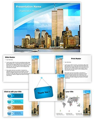 World Trade Center Editable PowerPoint Template