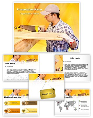 Wood Craftsman Editable PowerPoint Template