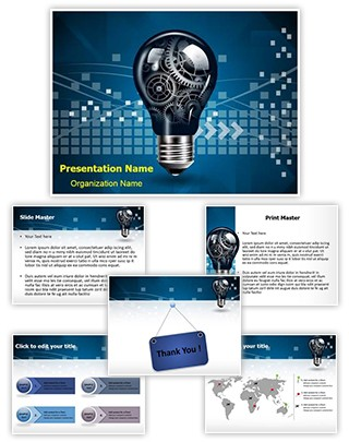 Technology Innovation Editable PowerPoint Template